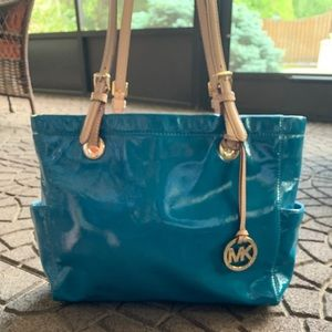 Michael Kors Baby Blue Leather Tote